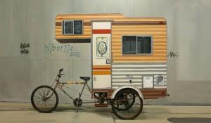 Un vélo-caravane pour camper en ville