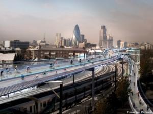 [Vidéo] Londres : bientôt 220 kilomètres de pistes cyclables aériennes ?