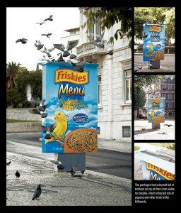 Campagne publicitaire: le mobilier urbain comme support