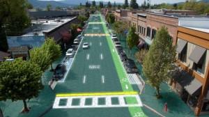 SolarRoad: première piste cyclable solaire du monde