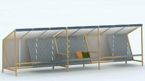 Mobilier urbain: le banc du futur sera autonome et connecté