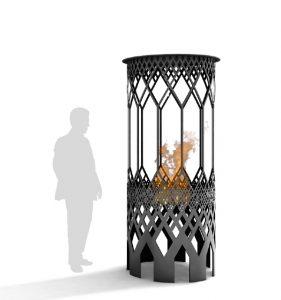 Mobilier urbain: des fontaines hivernales pour réchauffer les rues