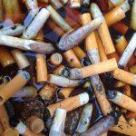 Mégots de cigarette sans cendriers